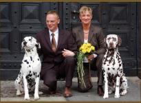 Unser Glücksbringer Porter mit dem Brautpaar Michael & Karola Lehmann und Coppola
