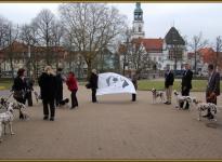 Nach der Trauung im Außenbereich des Residenzschlosses Celle