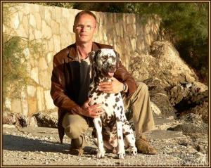 Michael Lehmann mit seinem ersten Nachzuchtrüden Christi ORMOND Coppola